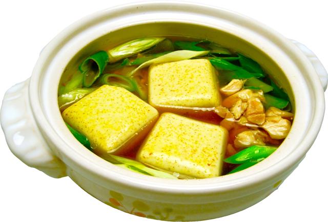 カレー豆腐麺つゆレシピ加工画像